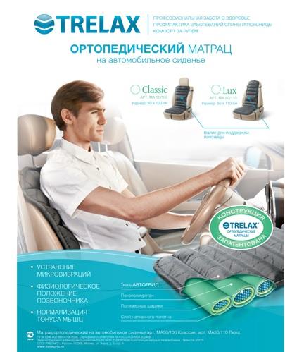 Ортопедический матрац на автомобильное сиденье, TRELAX LUX (Трелакс люкс) купить в Воронеже