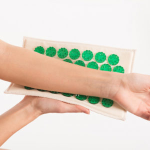 Аппликатор Кузнецова зеленый (менее острый) на мягкой подложке 12х22 см купить в ортопедии в Воронеже
